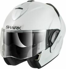 SHARK EVOLINE 3 FUSION GLOSS WHITE WHU MOTORCYCLE HELMET - LARGE