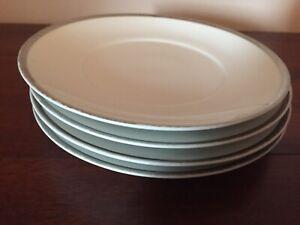 "Thomas China - Germany - 4 x 7"" Side Plates - Platinum Range - Thick Silver Line"
