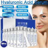 10Pcs HYALURONIC ACID SERUM Anti-Aging Intense Anti Wrinkle Moisturizer Firming