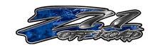 "Chevy Z71 Offroad Truck Decals Silverado GMC Blue Camouflage 16"" REFLECTIVE 053"