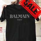 NEW Balmain121a Mens Black T-Shirt SIZE S- 3XL USA Printed