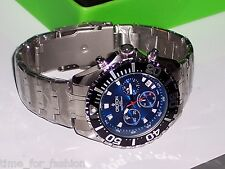 Croton Men's Stainless Steel Quartz Chronograph Watch Blue Dial CC311322SSBL