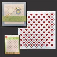 Heart Quilt Embossing Folder Marianne Folders 5x5 DF3432 Cuttlebug Compatible