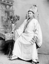 Photo. ca 1919. California.  Chinese Theater Actor - sitting in chair