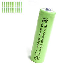 20 pcs AA 2A 3000mAh 1.2V Ni-MH rechargeable battery Solar Light MP3 Toy Green