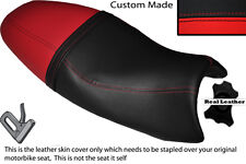 BRIGHT RED & BLACK CUSTOM FITS TRIUMPH SPEED TRIPLE 08-10 1050 SEAT COVER