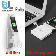 BlueLounge Rolio Wall Dock Lightning Cable Organizer Holder for iPhone 7, 8 Plus