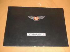 vintage Bentley Continental R sales brochure catalog 1991 British England auto