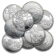 2013 France 5 Euro Values of the Republic Silver Coin - Random Design -SKU#79541