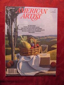 AMERICAN ARTIST September 1984 David Ligare William Schultz Kandy Tate