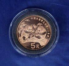 1993 China Copper 5 Yuan Panda coin in Capsule   (E4/4)