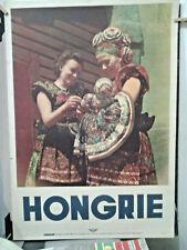 AFFICHE PHOTO ANCIENNE TOURISME FOLKLORE HONGRIE  IBUSZ