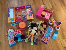 Large Groovy Girls Doll Lot ~ Dolls, Clothes & Sleeping Bags Chairs Scooter Kitc