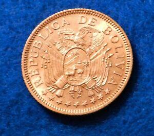 1951 Bolivia 5 Bolivianos - Beautiful Uncirculated Coin - See PICS