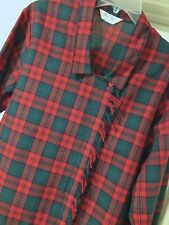 Rare Vtg Size 10 - 12 Red Plaid Cheryl Tiegs Woven Cotton Button Front Blouse