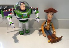 Disney Thinkway Toys TOY STORY interactive Talking Buddies WOODY BUZZ LIGHTYEAR