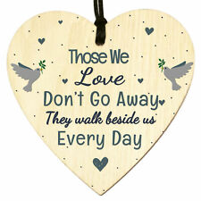 Memorial Wooden Heart Sign In Memory Loss Rememberance Plaque Gifts Bereavement
