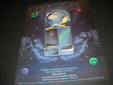 Crystal Globe Award Goes To ROBERTO CARLOS 1982 Promo Poster Ad mint condition