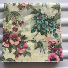 Decoupage Vintage Napkins Paper Tissue Blue Pink Beautiful Party Decor A0