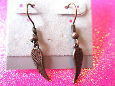 Copper Angel Wing Earrings 1/2 Inch Dangles