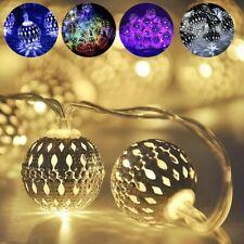 LED Romantic Moroccan Fairy String Lights Lantern Solar Powered Garden Lamps UK