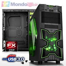 PC GAMING AMD FX 4300 QUAD CORE - Ram 8 GB DDR3 - HD 1 TB - WI-FI - ATI RX 460