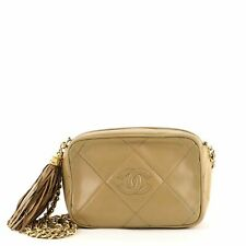 Chanel Vintage Diamond Cc камера сумка стеганая кожа небольшой