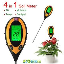 4 In 1 LCD Digital Moisture Temperature Sunlight Soil Meter PH Tester Plants