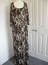Long soft jersey type animal print dress - UK size 20