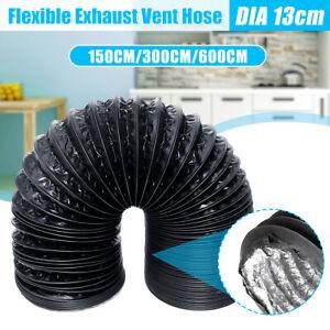 Ø 13cm Abluftschlauch Flexibel PVC Schwarz 1.5m 3m 6m für Klimagerät  P