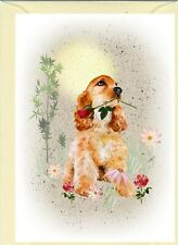 "Cocker Spaniel Dog (4""x 6"") Blank Card ideal for Mothers Day, Valentines, etc."
