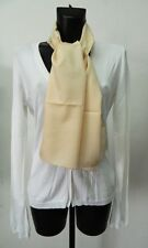 Foulard seta Beige a righe donna Made in Italy OMA06