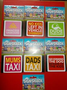 SIGN SHACK STICKER, FOR HOME, OFFICE & GARDEN - WATERPROOF AND WEATHER PROOF