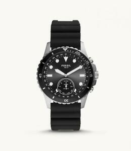 Hybrid Smartwatch Uomo FOSSIL FB-01 FTW1302 Silicone Nero