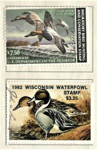 USA, 1982 Waterfowl Stamps, State of Wisconsin #1716
