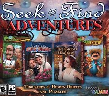 Seek & Find Adventures 4 Pack PC Games Windows 10 8 7 XP Computer hidden object