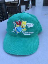 Vintage Bart Simpson 90s Trucker Hat Green Simpson's Go For It
