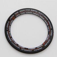 Black Inner Chapter Ring Seiko World Time GMT 6117-6400 , 6117-6409  Navigator