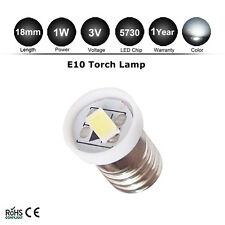 1x E10 LED Screw Base Indicator Bulb Cold White 3V DC Torch Bike Lamp Light 5730