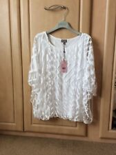 Phase eight Eve Geo Burnout white top RRP £49. size Uk 12, 14, 16, 18