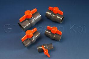 Kugelhahn PVC Absperrhahn Absperrventil  von 20 25 32 40 50  63mm 10bar