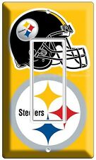 PITTSBURGH STEELERS NFL FOOTBALL TEAM LOGO SINGLE GFCI LIGHT SWITCH PLATE COVER