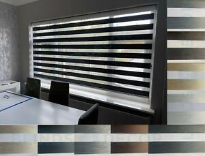 MADE TO MEASURE CASSETTE ZEBRA VISION WINDOW ROLLER DAY AND NIGHT VISION BLINDS
