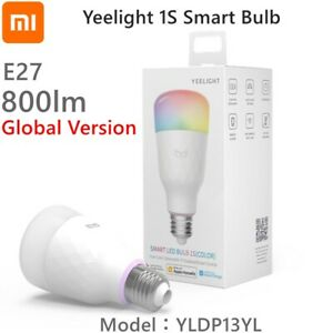 New Yeelight Smart Led Bulb 1S Rgb Colorful E27 Wifi Voice Remote Control