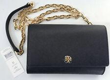 NWT Tory Burch Robinson Saffiano Chain Wallet Clutch Crossbody Leather Black New