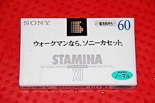 SONY  STAMINA XI    60  VS. V BLANK CASSETTE TAPE (1) (SEALED)