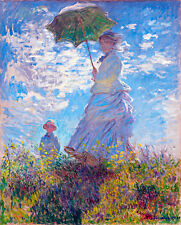Woman with a Parasol by Claude Monet A1+ High Quality Art Print