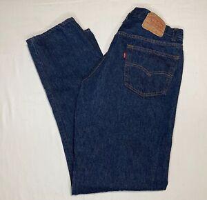 VTG Levis 501xx 501 0115 Dark Blue Button Fly Denim Jeans USA 36x32 Act 34x32