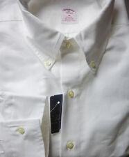 New! Brooks Brothers White Oxford BD Collar Shirt ~ NWT - Slim Fit ~ USA Medium