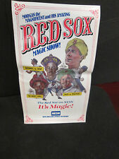BOSTON RED SOX- MORGAN MAGIC 1989 NESN  SCHEDULE-& MAGIC SHOW PLAYERS